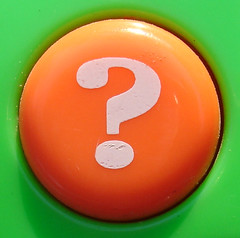 Orange Question Mark Button | by jhhwild