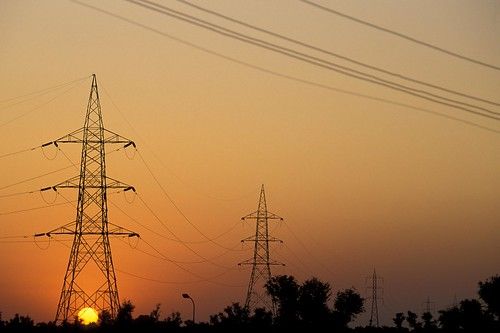 Power lines at sunset | by World Bank Photo Collection