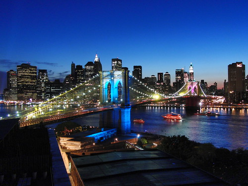 manhattan skyline  lit brooklyn bridge nyc  york 500 x 375 · jpeg