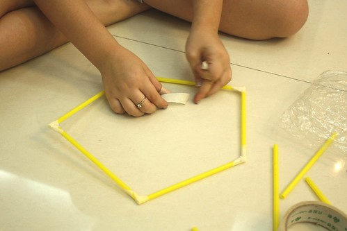 straw tower making pentagon base | by jimmiehomeschoolmom
