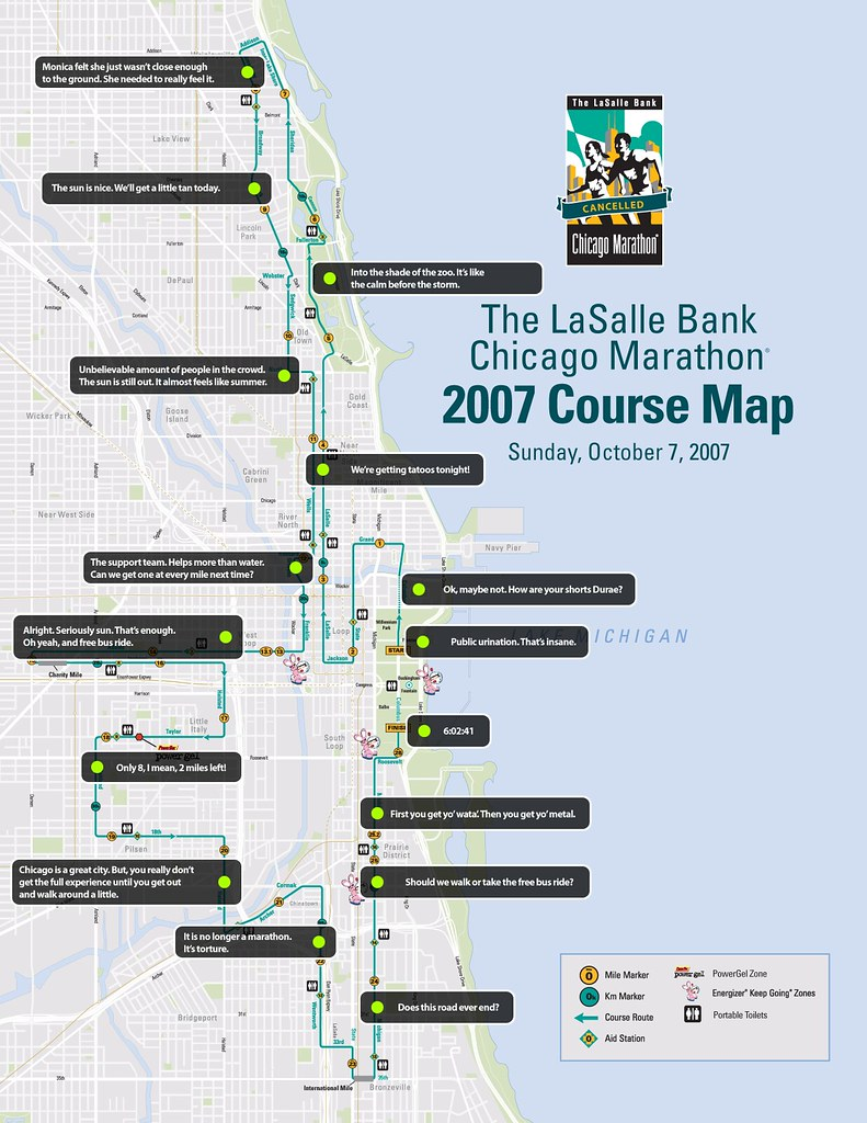 Chicago Marathon The Real Course Map  What Really