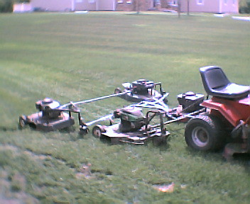 Double Tow Behind Mower | 4 ganged rotary mowers, 96 inch ...