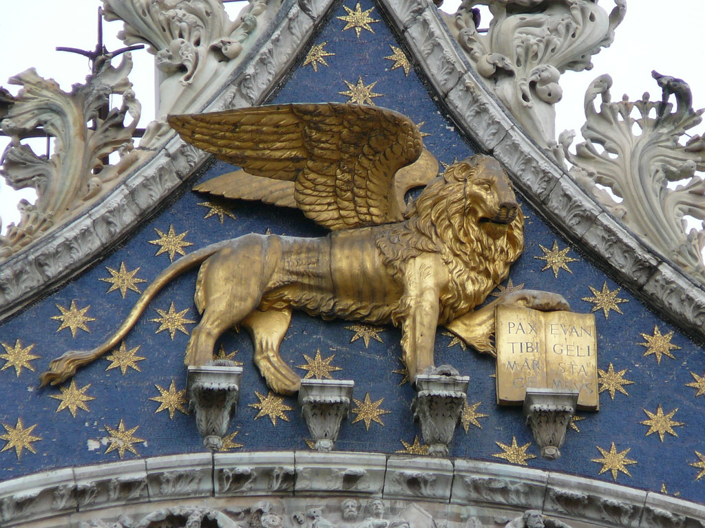 Winged Lion Of St Mark The Symbol Of Venice Exterior Of Flickr