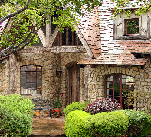 The fairytale cottages of carmel stone house was built for Stone built homes