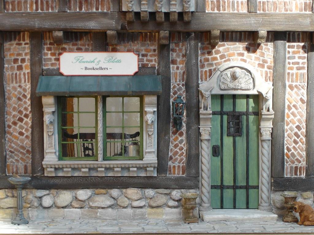 Flourish & Botts Bookstore Dollhouse from Harry Potter