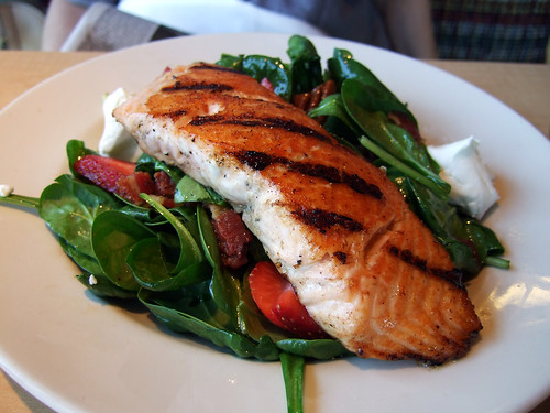 City Hall Diner Spinach Salad with Salmon | by ralph and jenny
