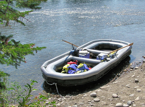 Our raft that we went down the Snake River in | by Donna62