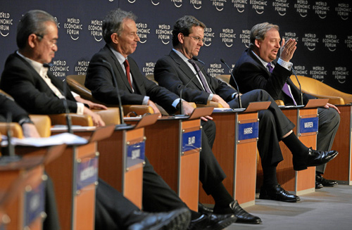 Tony Blair, David Harris, Rick Warren - World Economic Forum Annual Meeting Davos 2008 | by World Economic Forum