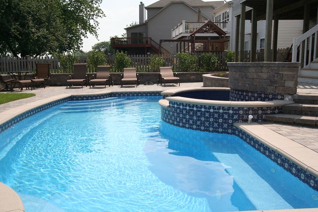 pool tile ideas signature pools and spas colonial in ground fiberglass 29718