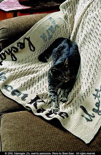 Kitty Knits Afghan | by druchunas