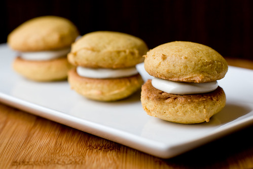 Pumpkin Whoopie Pies  with Cream Cheese Filling | by teenytinyturkey