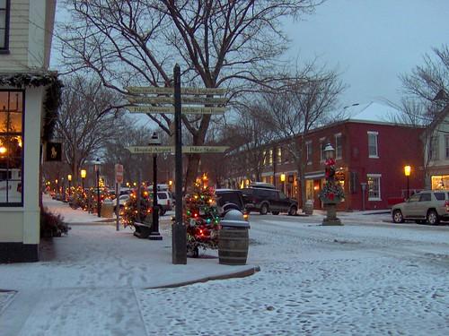 Main Street Nantucket At Christmas Main Street Nantucket