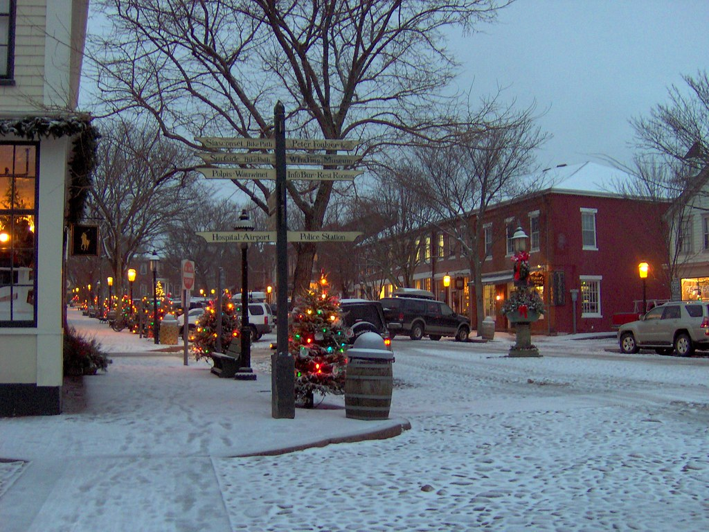 Main Street Nantucket At Christmas Main Street Nantucket