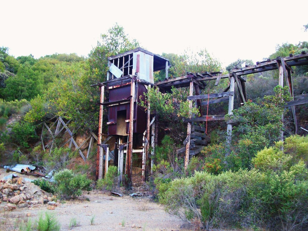 Mining Ruins At New Almaden Quicksilver County Park Rail