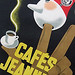 Vintage European Coffee Cafe Poster