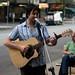 Joel Muston busking in Melbourne
