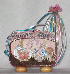 Bunny Tales - 3D Altered Altoid Tin Altered Art Mixed Media Collage | by chaoticartworks