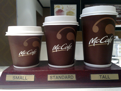 McCafe to-go cups | small, standard, and tall McCafe talks ...