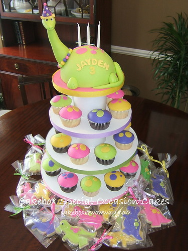 Dinosaur Cupcake Tower | by Cakebox Special Occasion Cakes