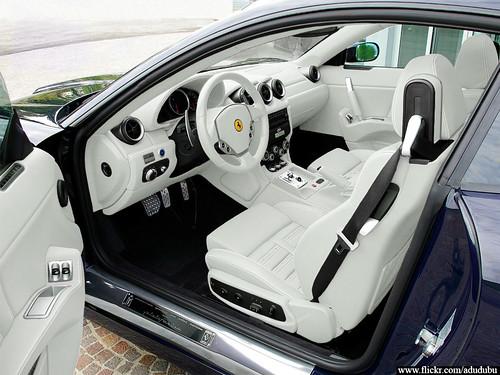 ferrari 612 scaglietti interior white car interior flickr. Black Bedroom Furniture Sets. Home Design Ideas
