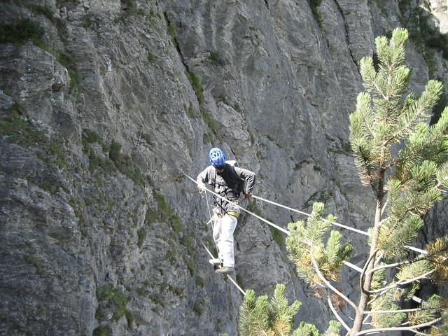 Klettersteig Bern : Seilbrücke klettersteig kandersteg kanton bern schweizu flickr