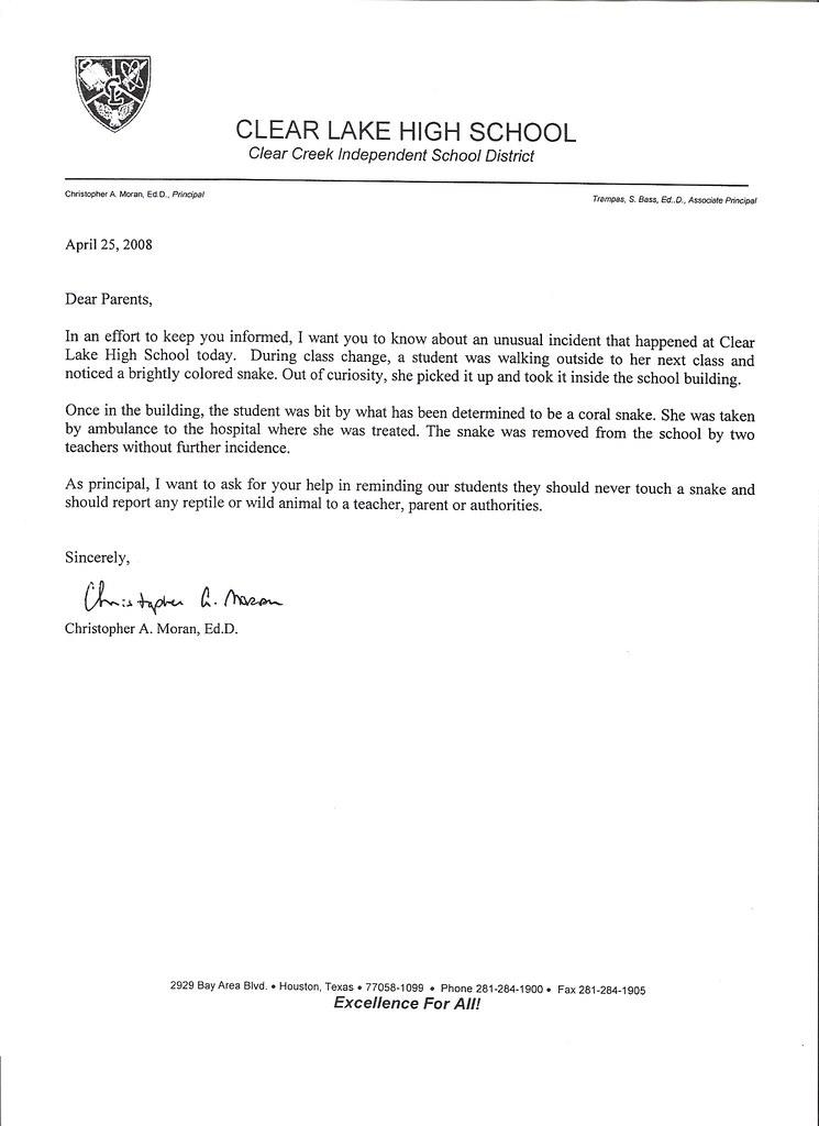 Letter Informing Change Of Email Address