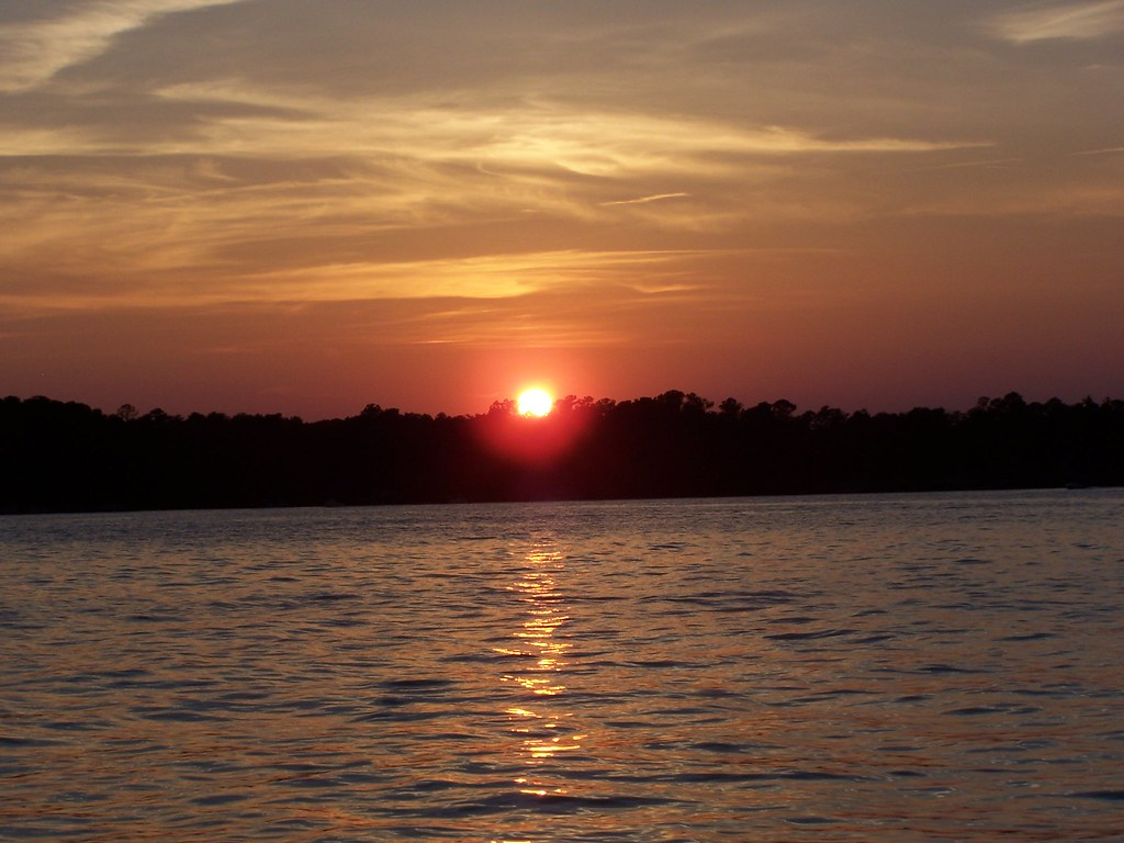 Sunset Today Lake Murray Sc It Was Very Crowded On The