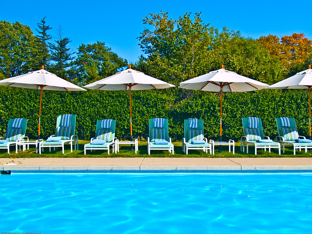swimming pool at langdon hall cambridge ontario