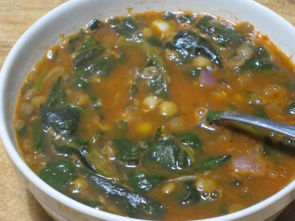 Spinach Lentil Soup (vegan)   Spinach and Lentil Soup 1 c ...