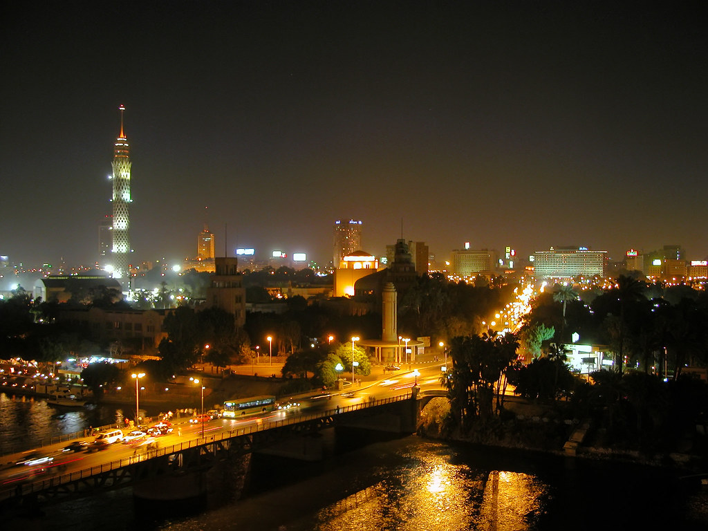 Egypt-2B-004 - Cairo at Night | Night view of the Nile ...