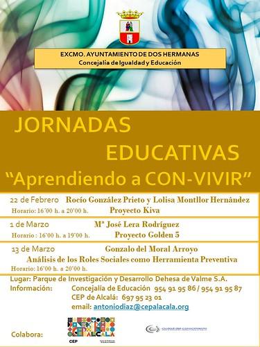 Cartel de la Jornadas Educativas Aprendiendo a Con-Vivir