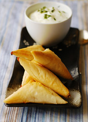Mushroom and Feta Fillo Triangles | by sneige