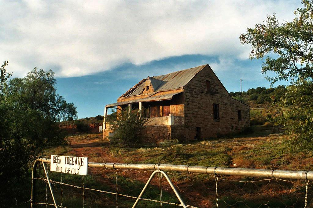 Abandoned Karoo Farmhouse Old Photo Taken With Film