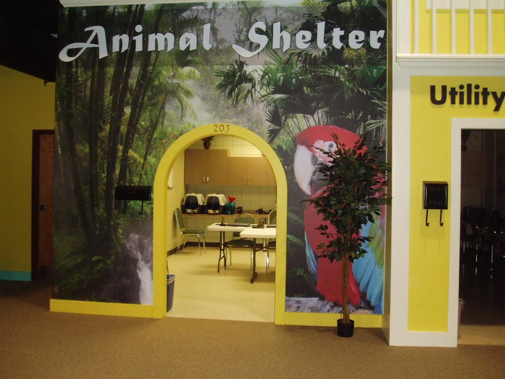 Ja biztown animal shelter where kids learn about the respo