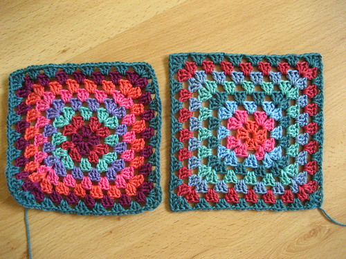 Blocking granny squares | by Attic24