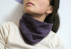 purple diagonal rib cowl | by azzuka