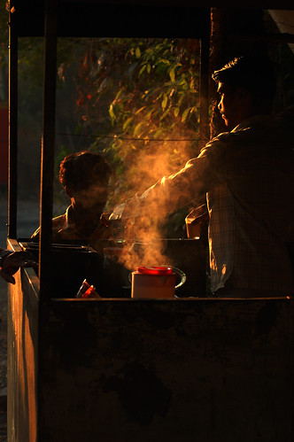 chaiwalla in the shivering early morn | by nel c