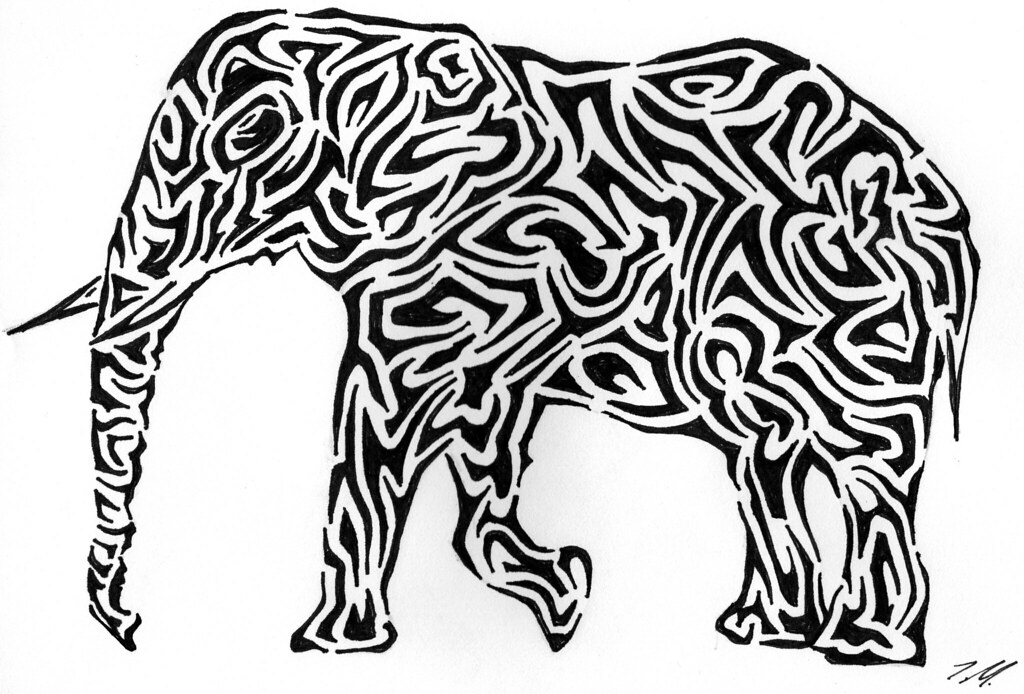 Tribal Elephant So The Says Thats Cute But Can