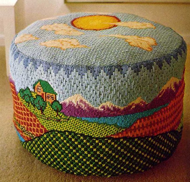 Better Homes And Gardens Needlepoint Beautiful Ottoman Fr Flickr