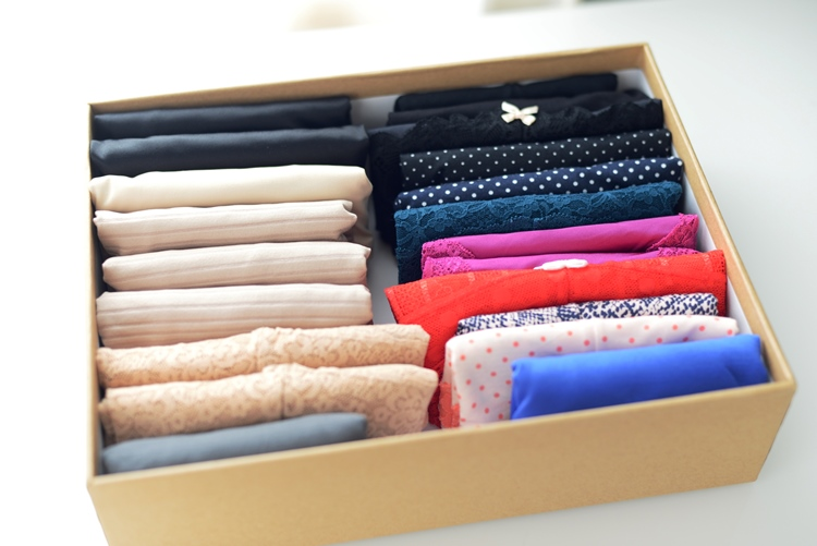 Konmari Method Underwear Folding and Storage