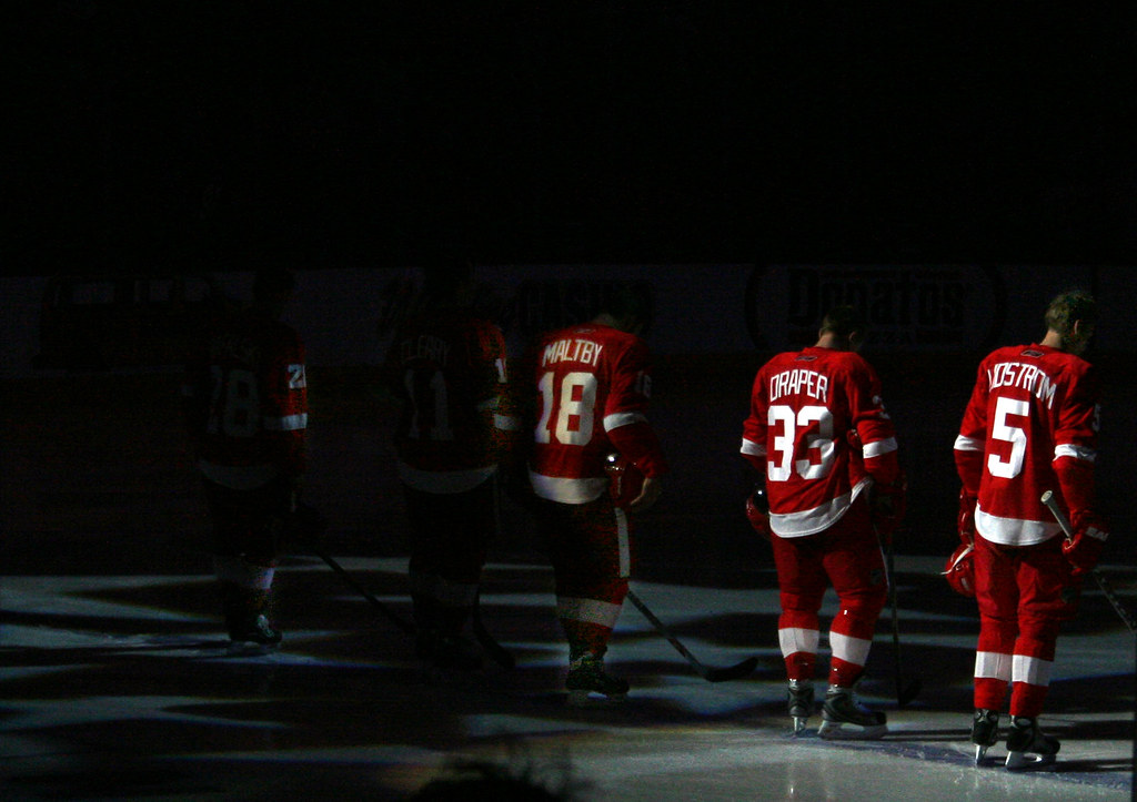 Red Wings starting lineup | Red Wings at Blue Jackets. Novem… | Flickr