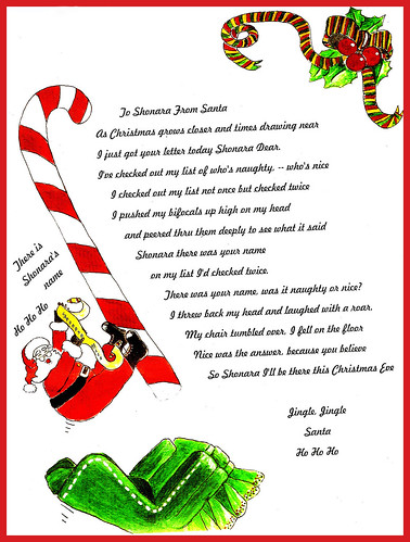 Letter From Santa My Aunt Signed Up Shonara For A Free