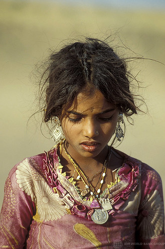 Portrait of young girl with traditional jewels.  India | by World Bank Photo Collection