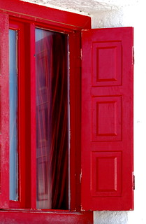 Red window, red curtain | by Aster-oid