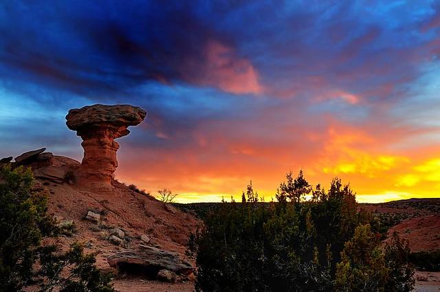 Camel Rock at Sunset | Camel Rock, NM at sunset. Went to ...