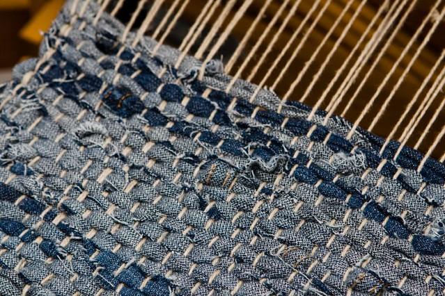 Denim Weaving Weaving My Denim Strip Rug Made Out Of