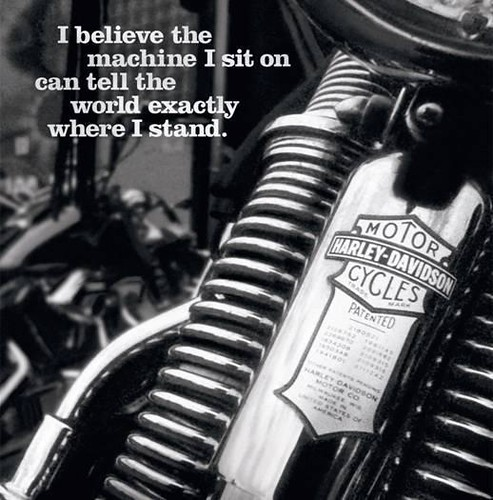 Harley Davidson Print Ad | by shelby wants to be riding: https://flickr.com/photos/1st5ive/2422838534