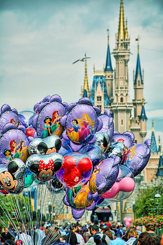 Disney - Main Street Balloons & Cinderella Castle (Explored) | by Express Monorail