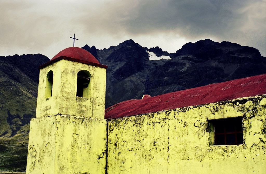 Andean Church In Peru