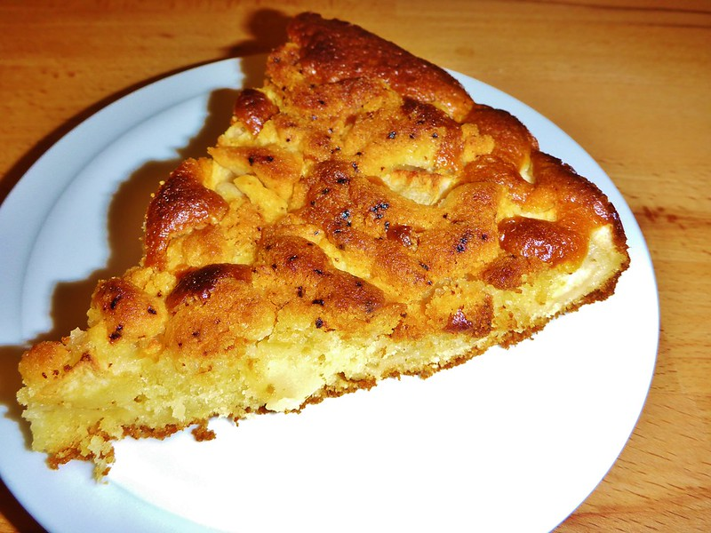 Apfelkuchen gebacken